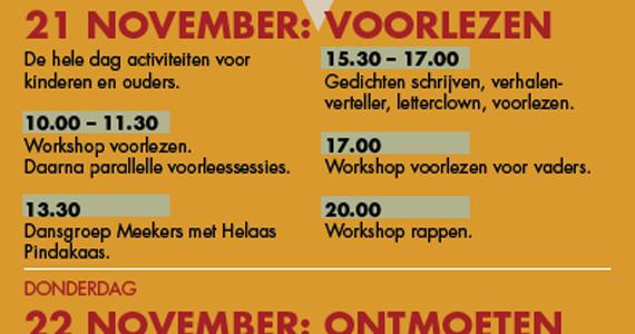 Programma leeszaalfestival