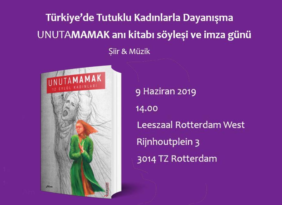 Boekpresentatie 'Unatamamak' – 9 juni