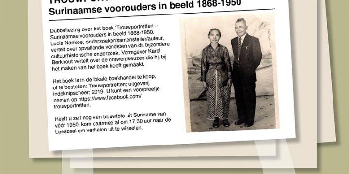 8 oktober – Literaire Maaltijd – Trouwportretten, Surinaamse Voorouders in Beeld 1868-1950