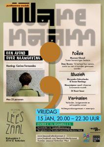 PuntKomma Muziek: Ware naam @ Leeszaal Rotterdam West + online